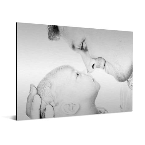 Aluminium print children black & white