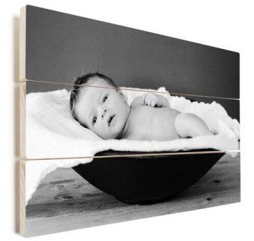 Foto op hout baby