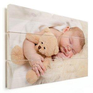 babyfoto fotoshoot op hout