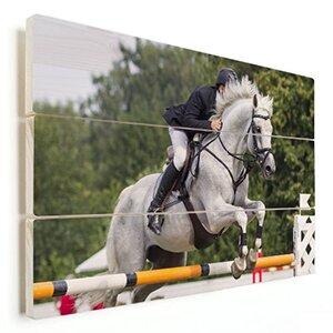 paardenfoto op hout