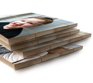 Offerte aanvragen foto op hout