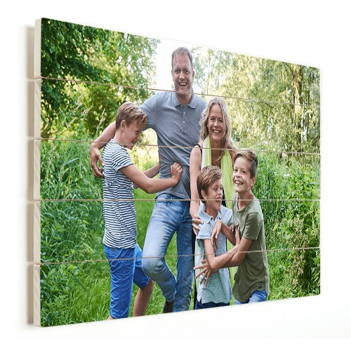 Foto op hout gezin