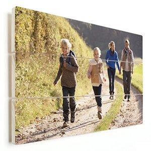 gezin fotoshoot op hout