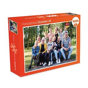 Foto op puzzel met doos prijzen